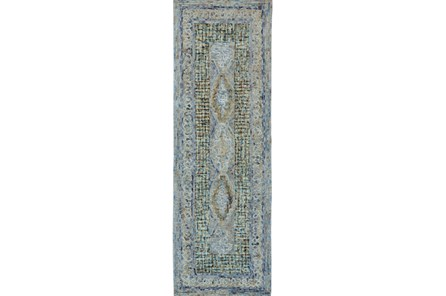 30X96 Rug-Cornflower Acanth Diamonds - Main