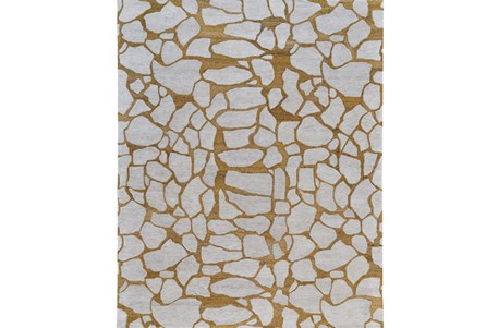 60X96 Rug-Copper And Grey Crackle