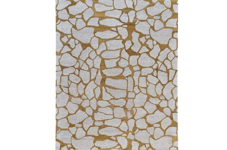 96X132 Rug-Copper And Grey Crackle