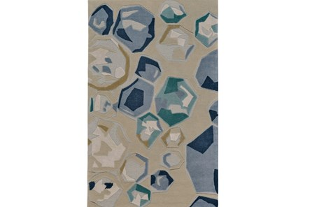 60X96 Rug-Blue Gemstones - Main