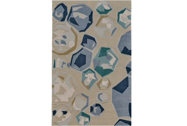 96X132 Rug-Blue Gemstones - 360