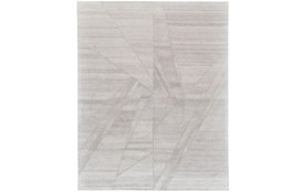 60X96 Rug-Light Grey Abstract Pleats