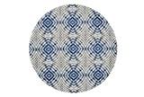 105 Inch Round Rug-Royal Blue Kaleidoscope - Signature