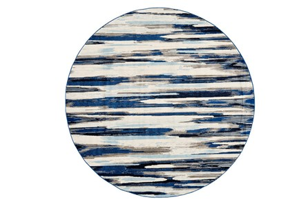 105 Inch Round Rug-Royal Blue Watermark Strie - Main