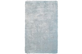 5'x8' Rug-Mottled Light Blue Shag