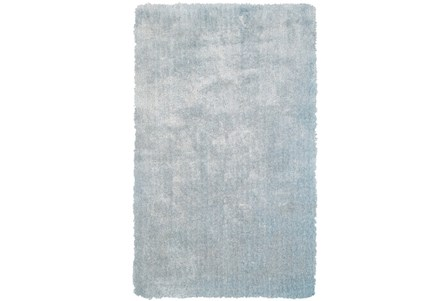 60X96 Rug-Mottled Light Blue Shag