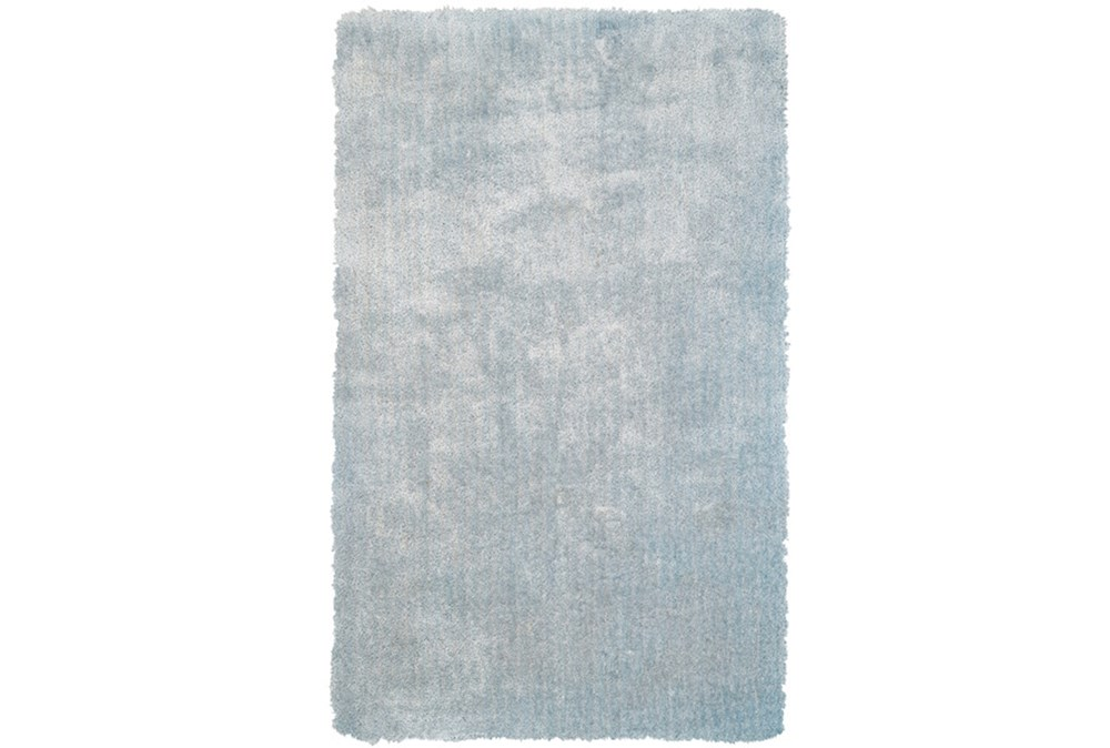 42X66 Rug-Mottled Light Blue Shag