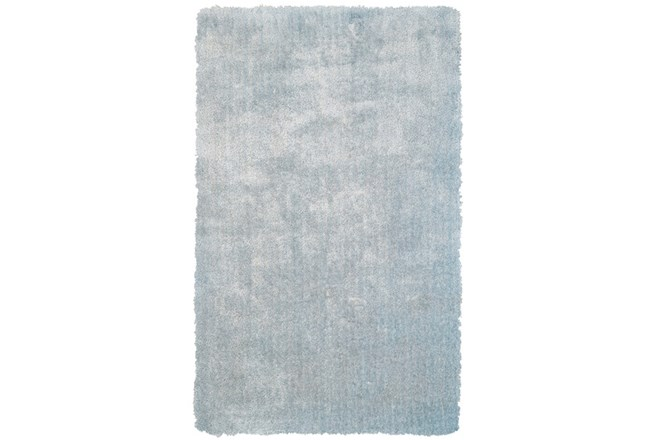 42X66 Rug-Mottled Light Blue Shag - 360