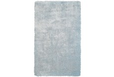 96X132 Rug-Mottled Light Blue Shag