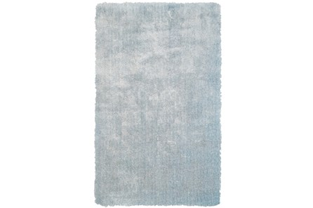 114X162 Rug-Mottled Light Blue Shag