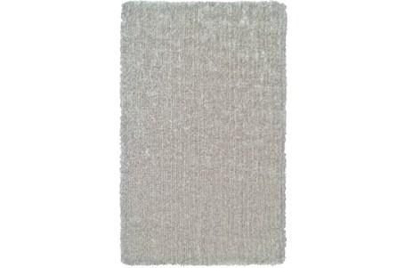114X162 Rug-Mottled Silver Shag