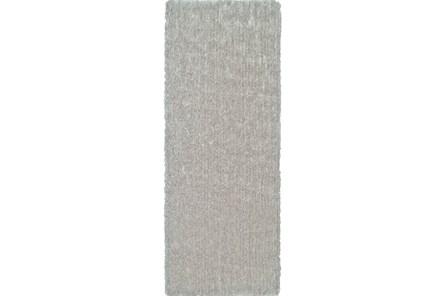 30X96 Rug-Mottled Silver Shag