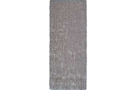 30X96 Rug-Mottled Grey Shag