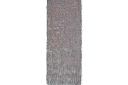 30X96 Rug-Mottled Grey Shag - Main