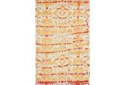 2'x3' Rug-Orange Tie Dye Ikat
