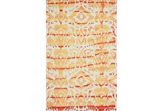 24X36 Rug-Orange Tie Dye Ikat