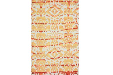 24X36 Rug-Orange Tie Dye Ikat - Main