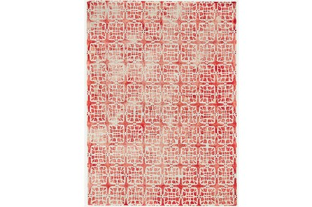 24X36 Rug-Red Tie Dye  Cubes - Main