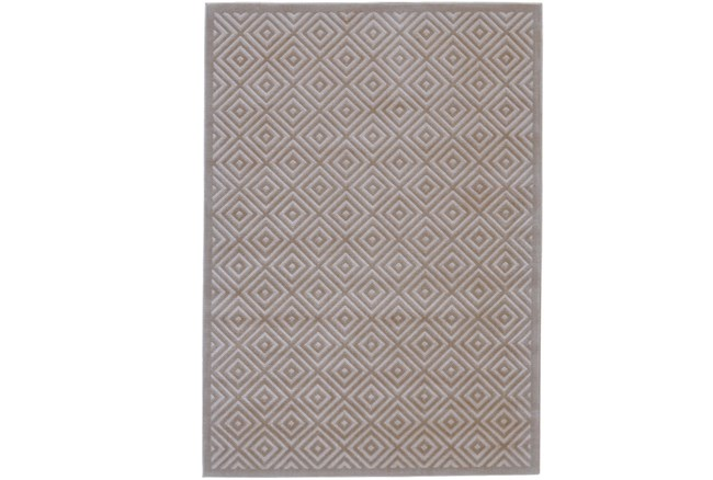 26X48 Rug-Taupe And Birch Diamonds - 360