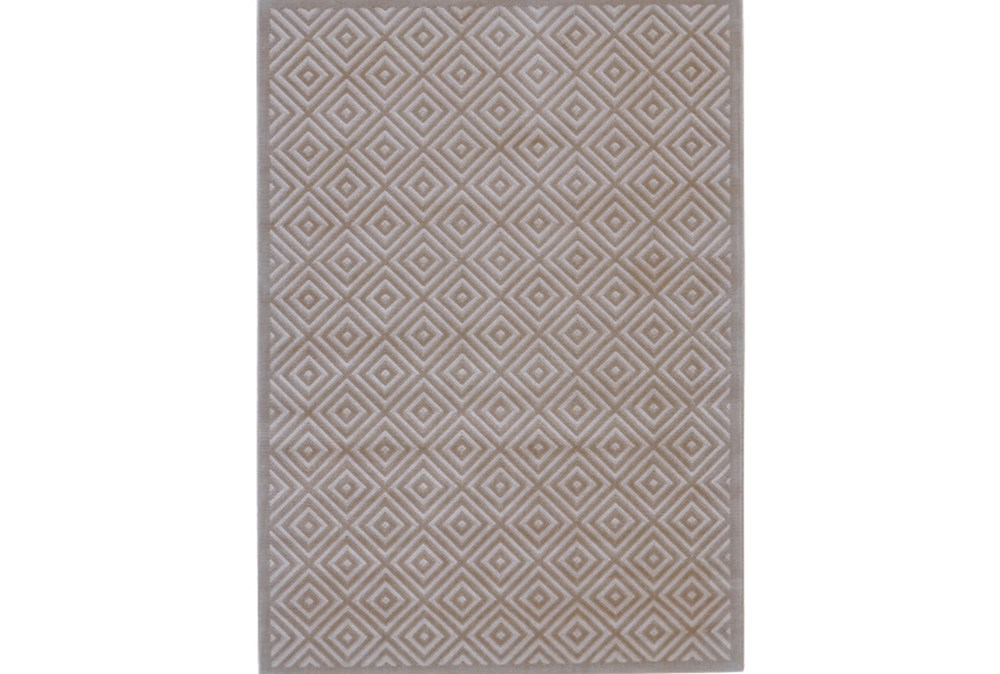 96X132 Rug-Taupe And Birch Diamonds