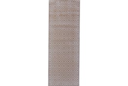 34X94 Rug-Taupe And Birch Diamonds