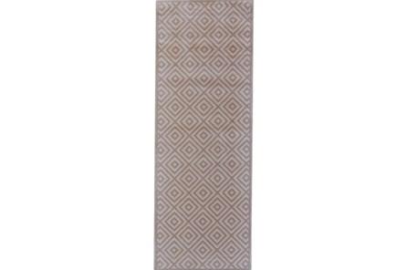 34X94 Rug-Taupe And Birch Diamonds