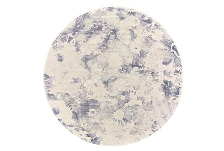 120 Inch Round Rug-Navy Tie Dye Splatter