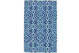 42X66 Rug-Indigo And Aqua Global Geometric Pattern - Signature
