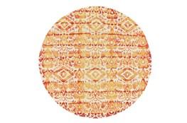 10' Round Rug-Orange Tie Dye Ikat