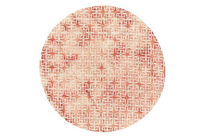 120 Inch Round Rug-Red Tie Dye  Cubes - 360