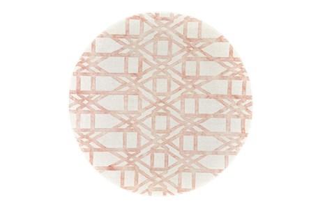 120 Inch Round Rug-Blush Pink Tie Dye Trellis - Main
