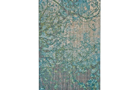63X90 Rug-Aqua And Green Tangled Web