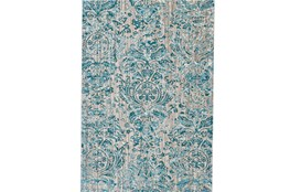 63X90 Rug-Blue And Grey Strie Damask