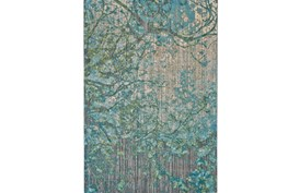 122X165 Rug-Aqua And Green Tangled Web
