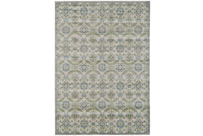 96X132 Rug-Spa And Green Small Floral Medallions - 360