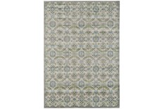 120X158 Rug-Spa And Green Small Floral Medallions