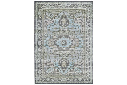 26X48 Rug-Spa And Green Global Traditional Pattern