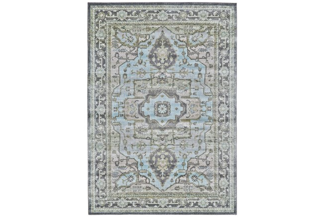 60X96 Rug-Spa And Green Global Traditional Pattern - 360