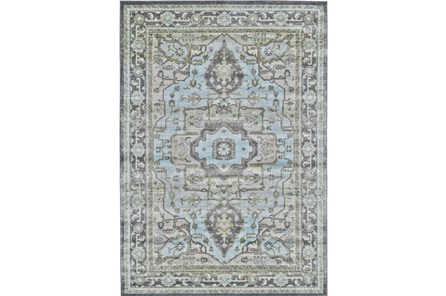 96X132 Rug-Spa And Green Global Traditional Pattern - Main