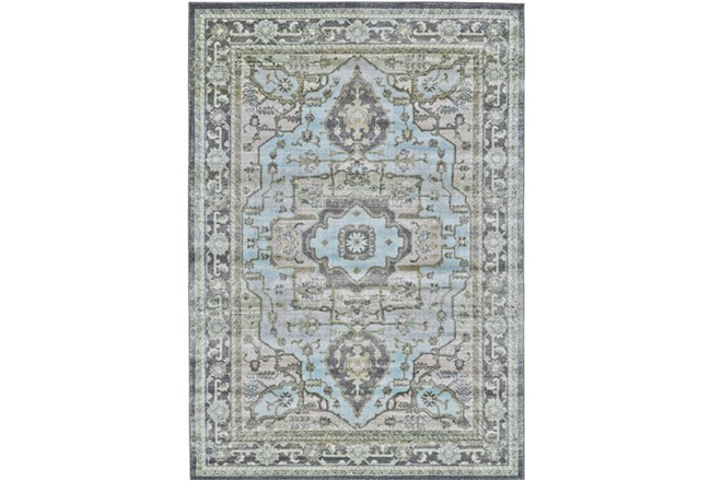 96X132 Rug-Spa And Green Global Traditional Pattern - 360