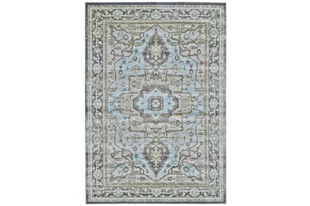 120X158 Rug-Spa And Green Global Traditional Pattern - Main