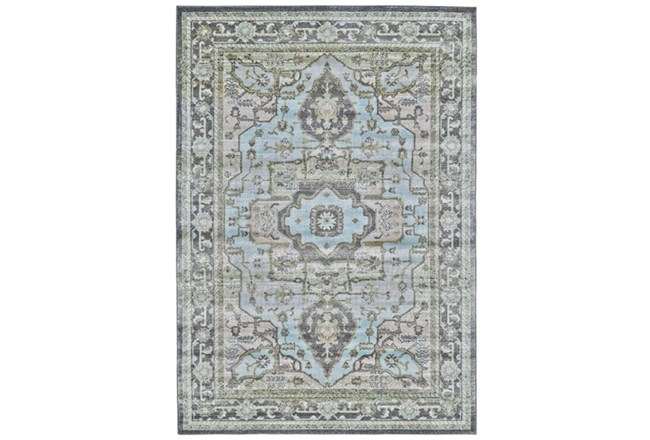 120X158 Rug-Spa And Green Global Traditional Pattern - 360