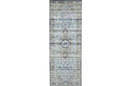 34X94 Rug-Spa And Green Global Traditional Pattern