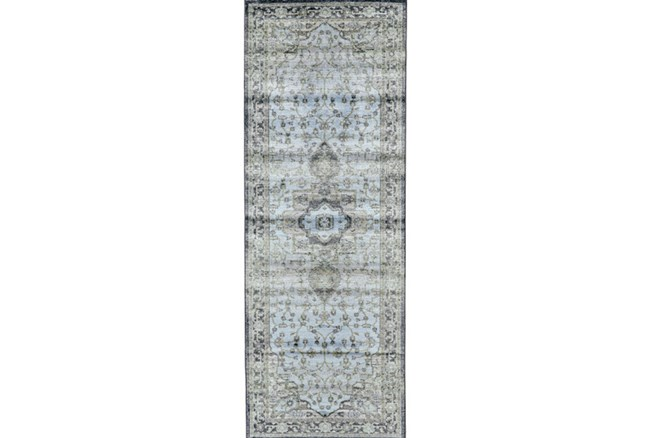 34X94 Rug-Spa And Green Global Traditional Pattern - 360