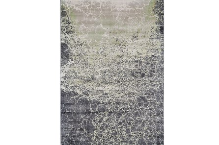 60X96 Rug-Charcoal And Lime Crackle - Main
