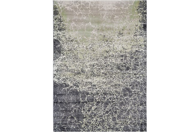 60X96 Rug-Charcoal And Lime Crackle - 360