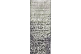 34X94 Rug-Charcoal And Lime Crackle