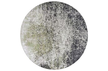 96 Inch Round Rug-Charcoal And Lime Crackle