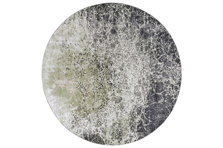 96 Inch Round Rug-Charcoal And Lime Crackle - Main