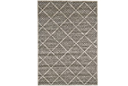 26X48 Rug-Charcoal Distressed Diamonds